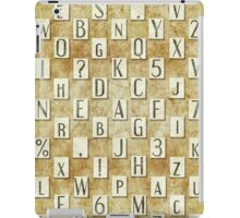 seamless background with letters .  iPad Case/Skin