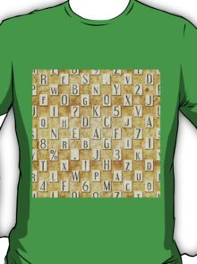 seamless background with letters .  T-Shirt