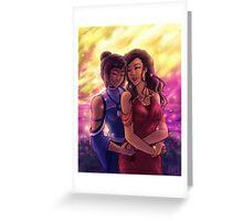 korrasami - sunset Greeting Card
