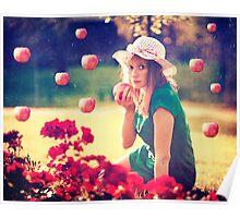 Apples rain Poster