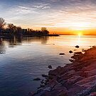 Purple Rocks Sunrise – Lake Ontario Impressions by Georgia Mizuleva