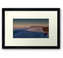 Walkers on Pen y fan in south Wales. Framed Print