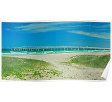 Fingal Bay Sand Jetty Poster