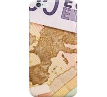 Map of Europe on 50 Euro banknote  iPhone Case/Skin