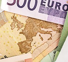 Map of Europe on 50 Euro banknote  by Sergieiev