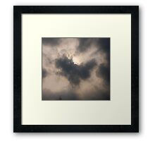 Heart in the clouds Framed Print