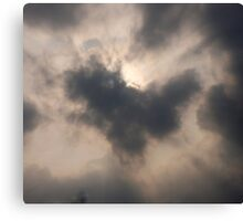 Heart in the clouds Canvas Print
