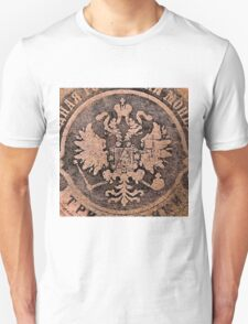 Threadbare coat of arms of the Russian empire T-Shirt