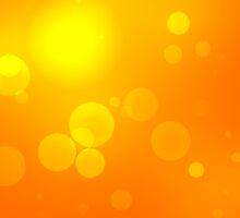Bright defocused orange light background by Sergieiev