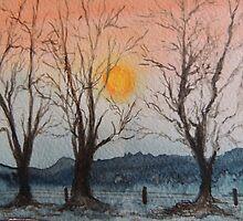 Winter Sunset by Alexandra Lavizzari