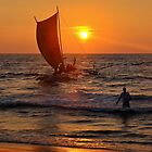 Sunset Negombo Beach by Adri  Padmos