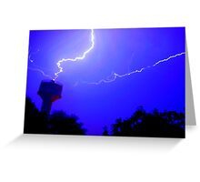 Thundering And Lightning Greeting Card