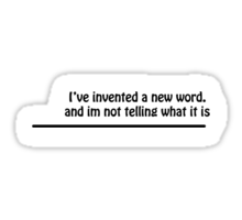 I've invented.. Sticker