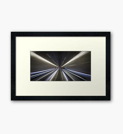 Barcelona subway Framed Print