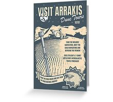 Visit Arrakis Greeting Card