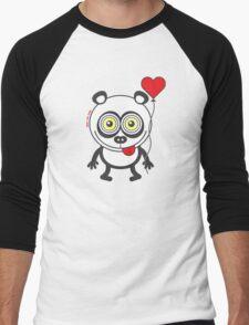 Panda bear showing a heart balloon and feeling crazy in love T-Shirt