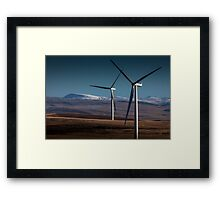 Wind turbines in south Wales Framed Print
