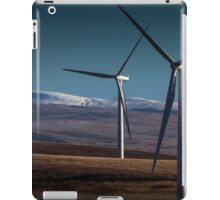 Wind turbines in south Wales iPad Case/Skin