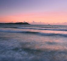 Dusk at Polzeath by cwwphotography