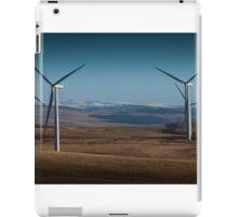 Wind turbines on Betws mountain iPad Case/Skin