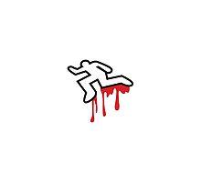 MURDER OUTLINE Coroner outline dead person  by jazzydevil