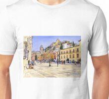 La Plaza Nueva, Granada, Spain Unisex T-Shirt