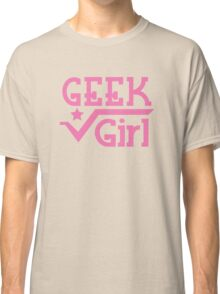 Geek Girl with pi Classic T-Shirt