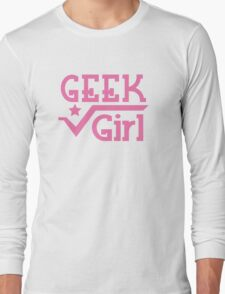 Geek Girl with pi Long Sleeve T-Shirt