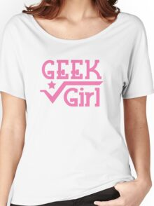 Geek Girl with pi Women's Relaxed Fit T-Shirt