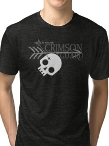 I'm with the CRIMSON GUARD arrows skull Tri-blend T-Shirt