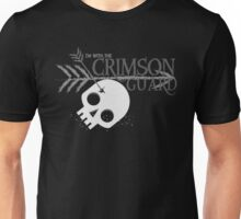 I'm with the CRIMSON GUARD arrows skull Unisex T-Shirt
