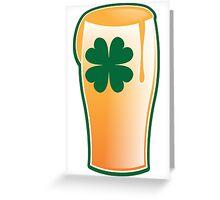 An IRISH shamrock beer great for St Patricks day Greeting Card