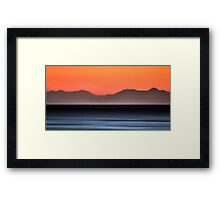 Pre sunrise behind the mountains Framed Print