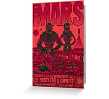 Visit Mars Greeting Card