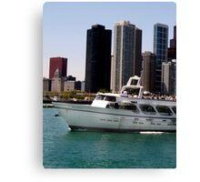 Chicago boat tour Canvas Print