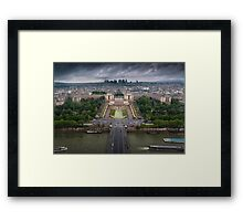 Storm approaching over Paris Framed Print
