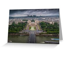 Storm approaching over Paris Greeting Card