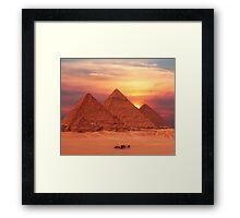 Pyramids of Egypt Framed Print