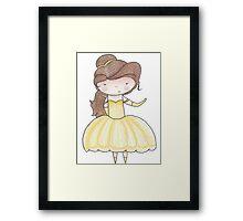 Belle - Ball gown Framed Print