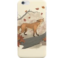fox and rabbit iPhone Case/Skin