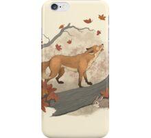 fox and rabbit iPhone Case/Skin