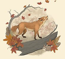 fox and rabbit by lauragraves