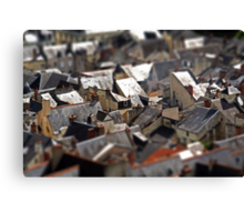 Patchwork French Roofs... Canvas Print