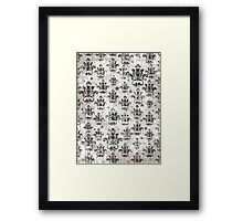 Pink / Black / Buff - Craft Design Framed Print