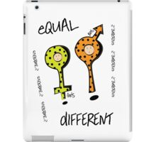 Equal & Different iPad Case/Skin