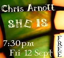 Alice Terry, Chris Arnott & SHE IS Poster by Erland Howden
