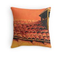 """""""Mission On 4th Street"""" Throw Pillow"""
