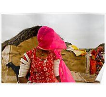 Village near Jaisalmer Poster