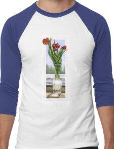 """""""Three Tulips"""" Men's Baseball ¾ T-Shirt"""