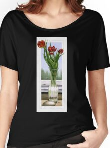 """Three Tulips"" Women's Relaxed Fit T-Shirt"